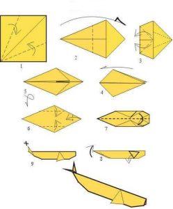 origami: ballena