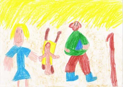 Dibujo creativo a los 5 años