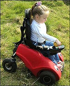 Niña con discapacidad motora