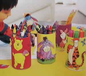 Manualidades portalapiceros con latas recicladas - Lapiceros reciclados manualidades ...