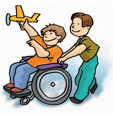Niños con discapacidades y juguetes adaptados a sus necesidades
