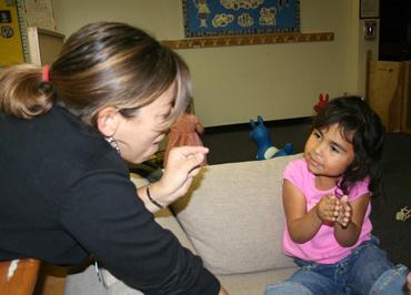 Lectura en voz alta para niños sordos