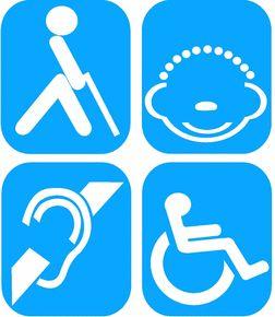 Señalización para personas con discapacidad