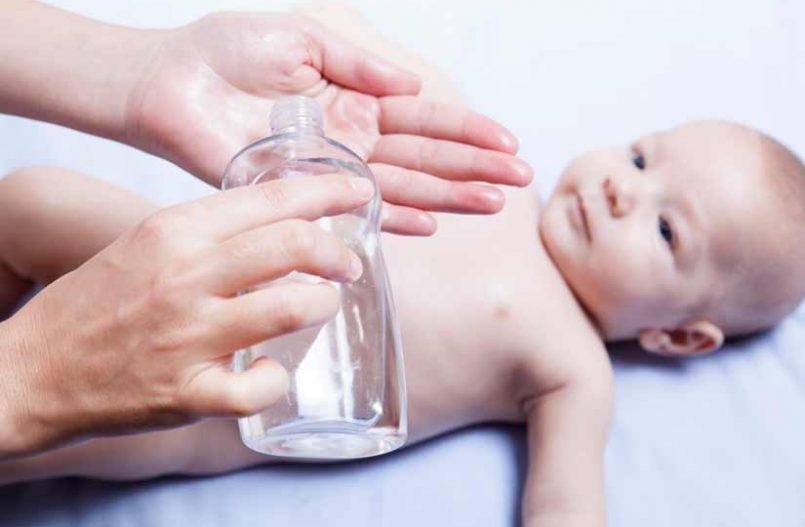 Aceite para el baño del bebé