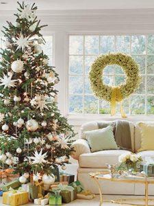 El Arbol De Navidad Decorado En 4 Colores Cuidado Infantil - Arbol-de-navidad-decorado
