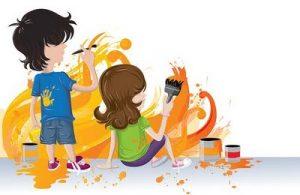 manualidades niños pintura