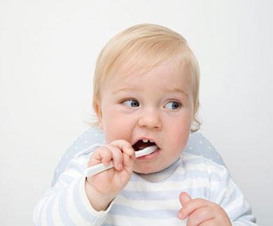 Higiene dental. Dientes bebé 18 meses