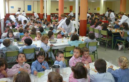 Menú escolar para celiacos