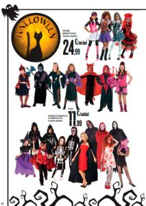 Folleto de disfraces Hipercor Halloween 2015