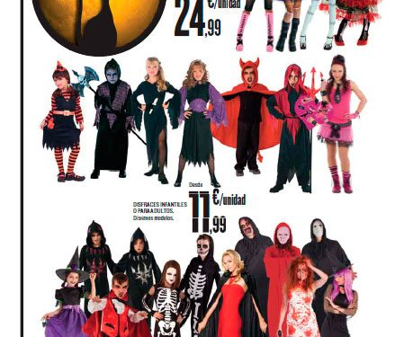 Folleto de disfraces Hipercor Halloween 2015
