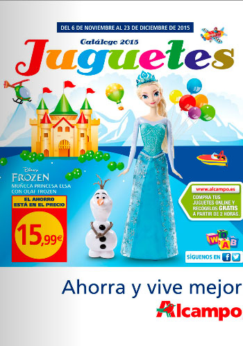 Folleto de juguetes de Alcampo Navidad 2015