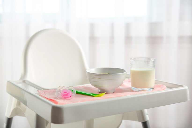 Accesorios necesarios para la alimentación del bebé