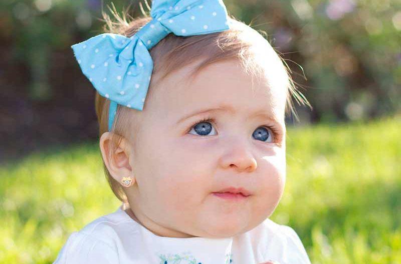 pendientes bebe 6 meses