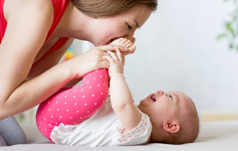 Masaje Shantala para bebés