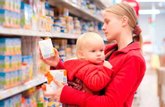 Recomendaciones para hacer la compra con el bebé