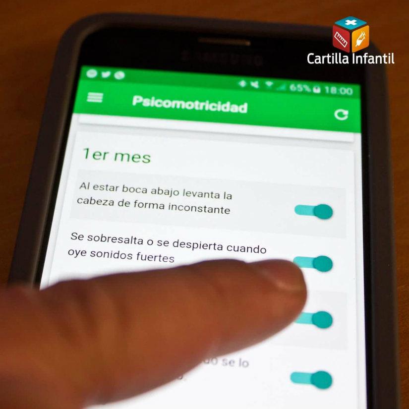 Control del desarrollo del bebé con la app Cartilla Infantil